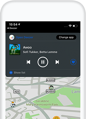 Deezer on Waze - Your ride  Your vibe